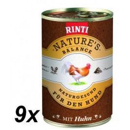 Rinti Nature´s Balance kuře+hnědá rýže+vejce 9 x 400g