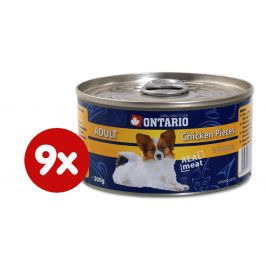 Ontario konzerva Dog Chicken Pieces+Chicken Nugget 9x200g