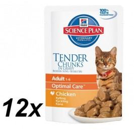 Hill's Feline Adult Chicken kapsička 12 x 85g