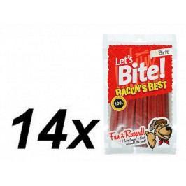 Brit Lets Bite Bacon's Best 14x105 g