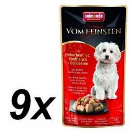 Animonda VF kapsička - kuřecí filet, hovězí + goji pro psy 9 x 100g