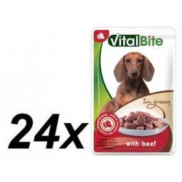 VitalBite Kapsičky hovězí trhané kousky 24 x 85 g