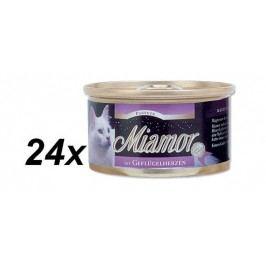 Finnern Paštika Miamor drůbeží srdíčka 24 x 85 g