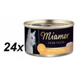Finnern Konzerva Miamor Filet kuře + těstoviny 24 x 100g