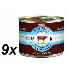 Rinti Nature´s Balance telecí+těstoviny+vejce 9 x 185g