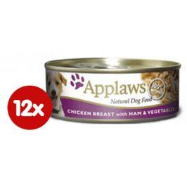 Applaws Konzerva Dog - kuře, šunka a zelenina 12 x 156g