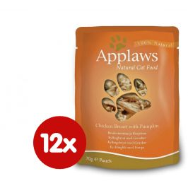 Applaws Kapsička Cat - kuřecí prsa a dýně 12 x 70g