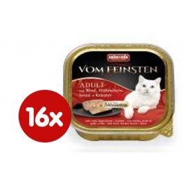 Animonda V.Feinsten CORE hovězí, kuřecí prsa + bylinky pro kočky 16 x 100g