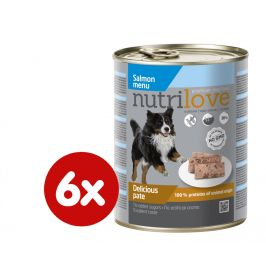 Nutrilove Dog paté SALMON 6 x 800g