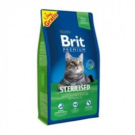 Brit Premium Cat Sterilised 8 + 1,5 kg Zdarma