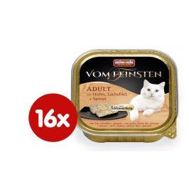 Animonda V.Feinsten CORE kuřecí, losos filet + špenát pro kočky 16 x 100g