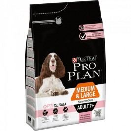 Purina Pro Plan Medium & Large Adult 7+ OPTIDERMA pro citlivou kůži 3kg