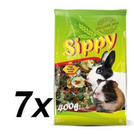 Akinu Sippy deluxe pro králíky a morčata 7 x 400g