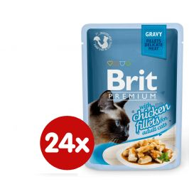 Brit Premium Cat Delicate Fillets in Gravy with Chicken 24 X 85 g