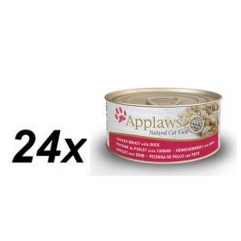 Applaws Konzerva Cat - kuřecí prsa a kachna 24 x 70g