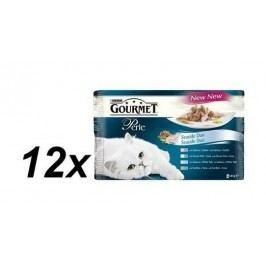 Gourmet Perle rybí Duo Multipack 12x(3+1 Zdarma 85g )