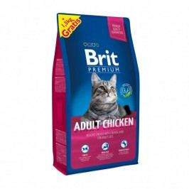 Brit Premium Cat Adult Chicken 8 + 1,5 kg Zdarma