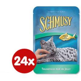 Schmusy Kapsičky Fish tuňák+zelenina 24 x 100g