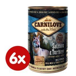 Carnilove Wild Meat Salmon & Turkey 6x 400 g