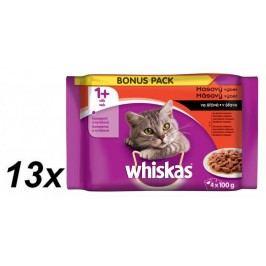 Whiskas Masový výběr ve šťávě BONUS 13x 4pack