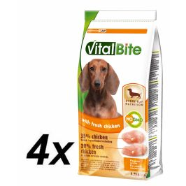 VitalBite Granule freshmeat pes malá a střední plemena 4 x 1,5 kg