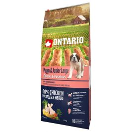 Ontario Puppy & Junior Large Chicken & Potatoes 12kg