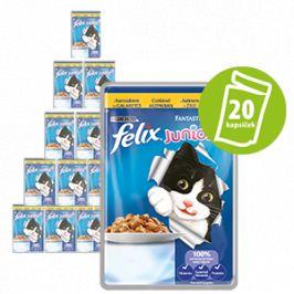 Felix Fantastic Junior kapsička s kuřetem v želé 20 x 100g.