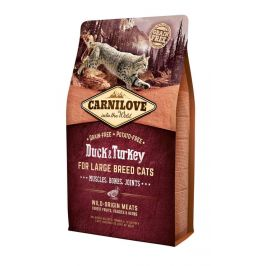 Carnilove Duck & Turkey for Large Breed Cats – Muscles, Bones, Joints 2 kg