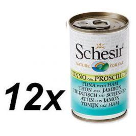 Schesir Konzerva Cat tuňák + šunka 12 x 140g