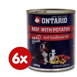 Ontario konzerva hovězí, brambor a slunečnicový olej 6 x 800g