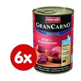 Animonda GranCarno Junior hovězí+krůtí srdce 6x400g