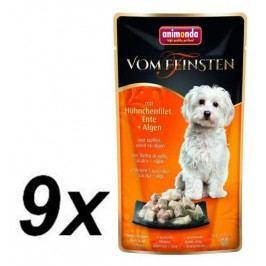 Animonda VF kapsička - kuřecí filet, kachna + řasy pro psy 9 x 100g