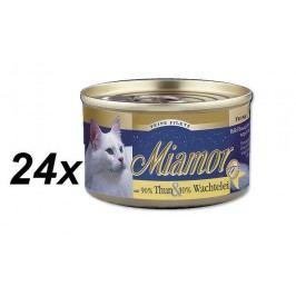 Finnern Konzerva Miamor Filet tuňák + křepelčí vejce 24 x 100g
