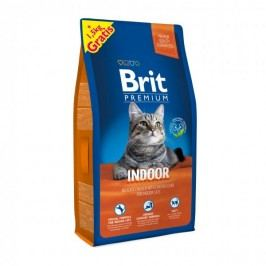 Brit Premium Cat Indoor 8 + 1,5 kg Zdarma