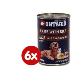 Ontario konzerva jehněčí, rýže a slunečnicový olej 6x400g