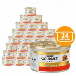 Gourmet Gold Savoury Cake S hovězím a rajčaty 24 x 85g
