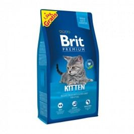 Brit Premium Cat Kitten 8 + 1,5 kg Zdarma