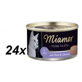 Finnern Konzerva Miamor Filet tuňák + kalamáry 24 x 100g