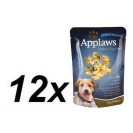 Applaws kapsička Dog - kuře, losos a mořská řasa 12 x 150g