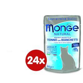 Monge NATURAL kapsička tuňák v želé se sleděm pro kočky 24 x 80g