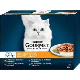 Gourmet Perle Multipack Classic II. 12 x ( 3+1 Zdarma 85 g ) Grilované kousky ve štávě