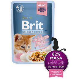 Brit Premium Cat Delicate Fillets in Gravy with Chicken for Kitten 24 X 85 g