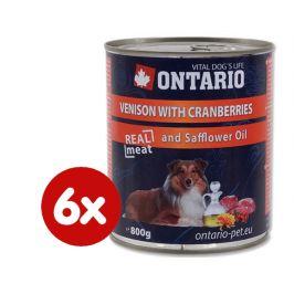 Ontario konzerva zvěřina, brusinky a světlicový olej 6 x 800g
