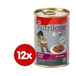Nutrilove Cat chunks jelly BEEF 12 x 400g
