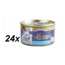 Finnern Konzerva Miamor Filet tuňák + krevety 24 x 100g