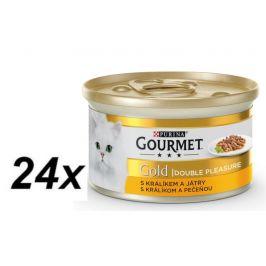Gourmet Gold králík s játry 24 x 85 g