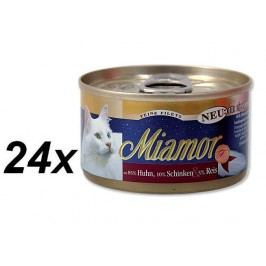 Finnern Konzerva Miamor Filet kuře + šunka 24 x 100g
