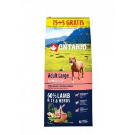 Ontario Adult Large Lamb & Rice 15 + 5 kg Zdarma