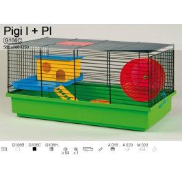 Akinu Klec pro malé hlodavce PIGI I zink. s výbavou 50x28x25cm