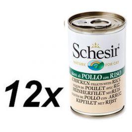 Schesir Konzerva Cat kuřecí + rýže 12 x 140g